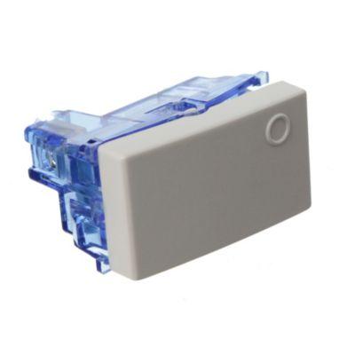 Módulo interruptor unipolar combinación blanco