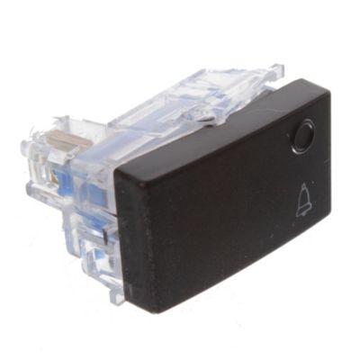Módulo 1 interruptor pulsador negro 10 ax