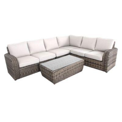 Juego de exterior Asturias mesa + 3 sillas de aluminio y ratán