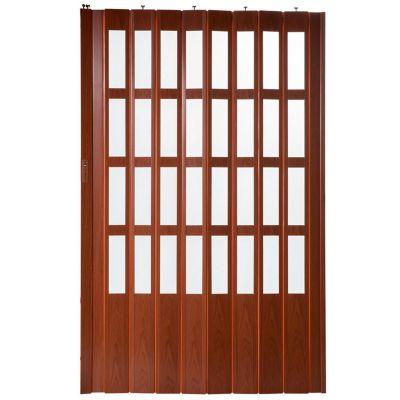 Puerta plegable lugano caoba 120 x 200 cm derec...