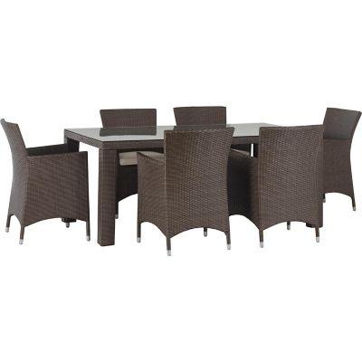Juego de exterior Lisbon mesa + 6 sillas
