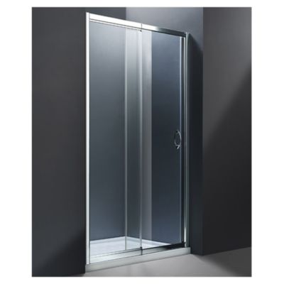 Mampara para ducha al piso ajustable de 135 a 150 x 185 cm
