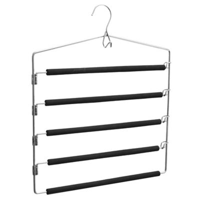 Percha metal 5 barras goma negro