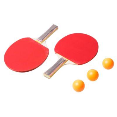 Set 2 paletas y 3 pelotas de ping pong