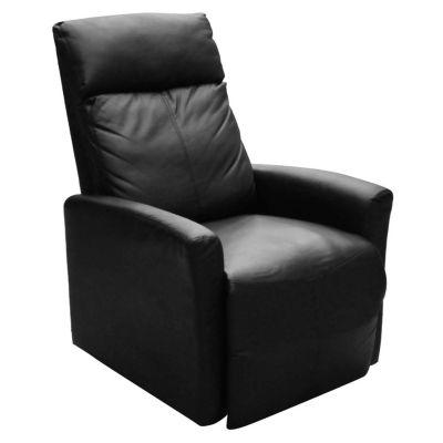Sillón individual de ecocuero negro reclinable