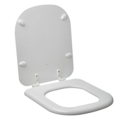Asiento para inodoro Bari de MDF y plástico blanco