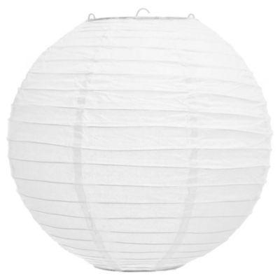 Pantalla globo papel blanco 30 cm