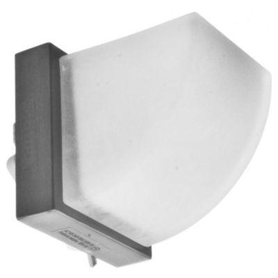 Aplique de pared una luz charlotte vidrio y níquel 8x8 g9