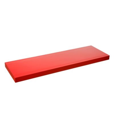 Estante de melamina flotante rojo 80 x 25 x 3,8 cm
