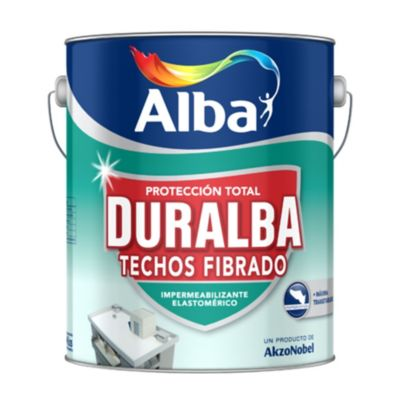 Impermeabilizante Techos Fibrado blanco Duralba 4 kg