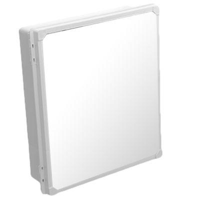 Botiquín para baño con espejo blanco 35 x 32 cm