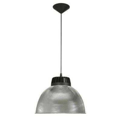 Lámpara de techo Colgante acrílico cable negro E27