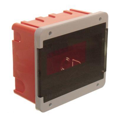 Caja para térmicas plástica de embutir línea recta para térmicas din ip40 8 módulos