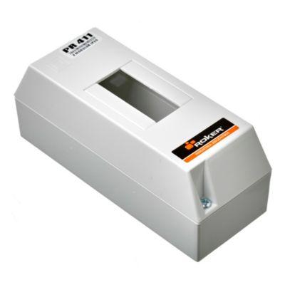 Caja para térmicas plástica de superficie sin tapa línea recta para térmicas din ip20 2 módulos