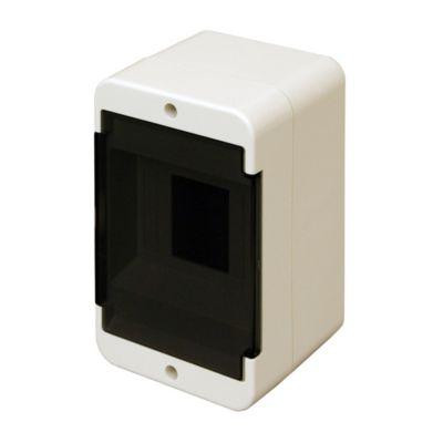 Caja para térmicas plástica de superficie línea recta para térmicas din ip40 4 módulos