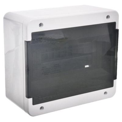 Caja para térmicas plástica de superficie línea recta para térmicas din ip40 8 módulos