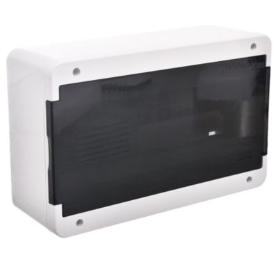 Caja para térmicas plástica de superficie línea recta para térmicas din ip40 12 módulos