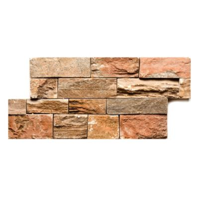Revestimiento cerámico 18 x 35 Slate Stone terra 0.06 m2
