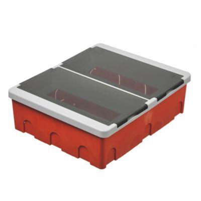 Caja para térmicas plástica de embutir línea recta para térmicas din ip40 22 módulos