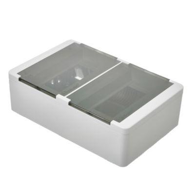 Caja para térmicas plástica de superficie línea recta para térmicas din ip40 16 módulos