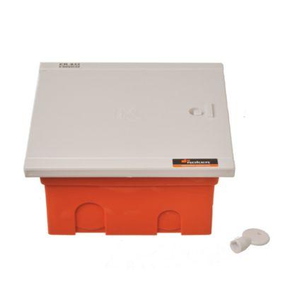Caja para térmicas plástica de embutir línea recta para térmicas din ip40 6 módulos