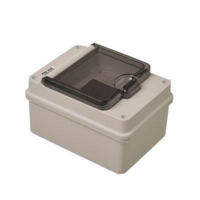 Caja para térmicas plástica de superficie para térmicas din ip55 4 módulos