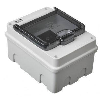 Caja para térmicas plástica de embutir para térmicas din ip55 4 módulos