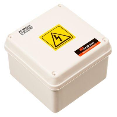 Caja plástica de paso estanca ip65 115 x 115 x 81 mm