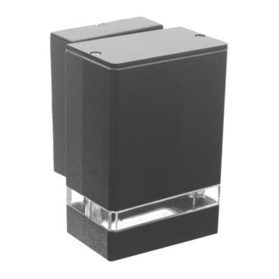 Lámpara unidireccional para pared negro Gu 10
