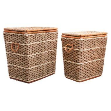 Canastos con tapa seag natural x 2 unidades - Just Home Collection - 1724703 9c3da32cecfc