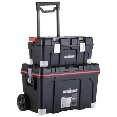 """Caja de herramientas plástica 25"""" + 22"""" con ruedas"""