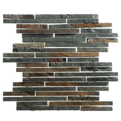 Malla mosaico 30 x 30 cm bangui oxido