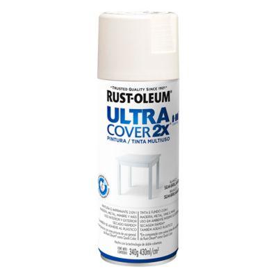 Pintura en aerosol multiuso Ultra Cover 2x blanco semi brillante 340 g