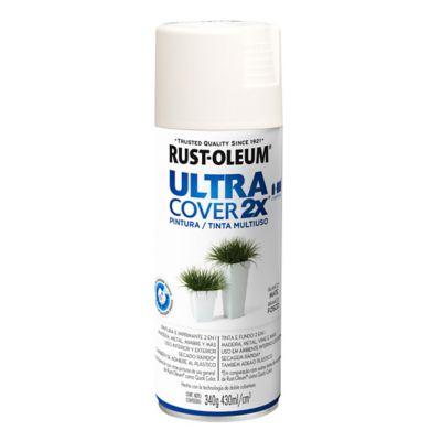 Pintura en aerosol multiuso ultra cover 2x blan...