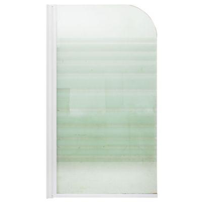 Mampara para ducha sobre bañera fija 80 x 140 cm