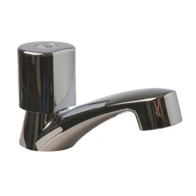 Canilla 1 Agua para lavatorio plástica cromada