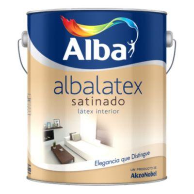 Pintura látex Albalatex interior satinado blanco 10 L