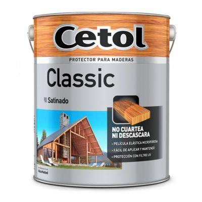 Protector para maderas classic brillante caoba 4 l
