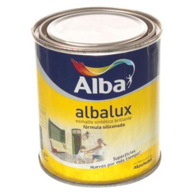 Esmalte Albalux sintético brillante marrón 0.25 L