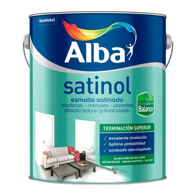 Esmalte al agua Satinol negro 0.5 l