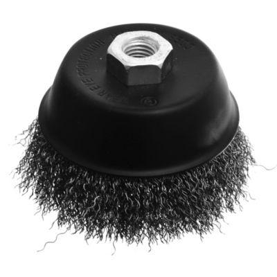 Cepillo copa alambre rizado 100 mm