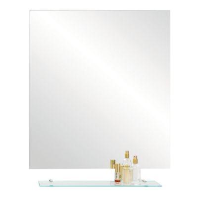 Espejo para baño 50 x 70 cm con repisa pulido