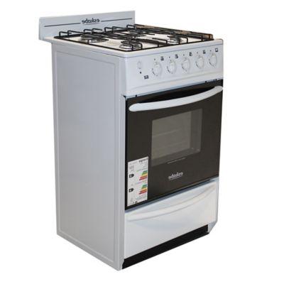 Cocina a gas 4 hornallas blanca 52 cm