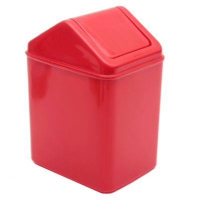 Cesto de basura de plástico 6 l rojo