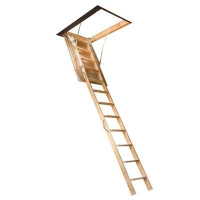 Escalera atico madera 70 x 70/280 cm