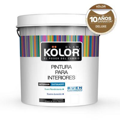 Pintura látex interior satinado deluxe blanco 4 L