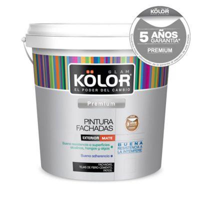 Pintura látex exterior mate premium blanco 4 L