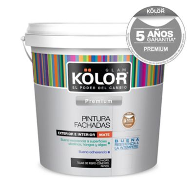 Pintura látex exterior mate premium blanco 20 L