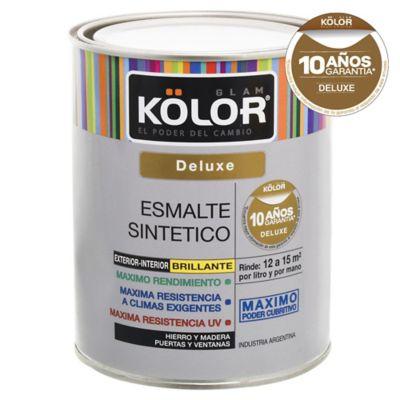 Esmalte sintético brillante deluxe negro 1 L