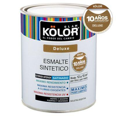 Esmalte sintético satinado deluxe negro 4 L